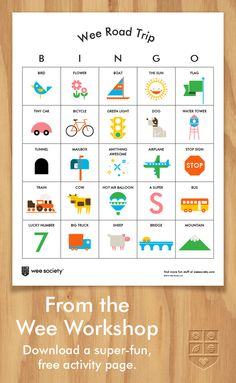 Wee Road Trip Bingo makes for happy summer road trips. Download it now from the Wee Workshop!