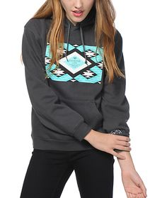 Keep shining in comfortable style with this soft fleece hoodie that features a mint, white and black Aztec Diamond Life graphic printed on the front.