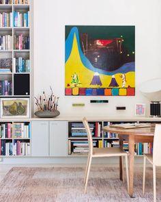 Janne & Bill Faulkner 's Home, Melbourne... Gareth Samson painting, Gus d'Alava sculpture and three sculptures by Giles Ryder