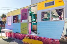 Vintage Trailer Restoration With A Hip & Colorful Vibe.  #TinyHouseforUs