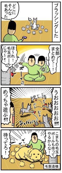 猫に毛玉ボールやったら思いのほかハシャいだ : まめきちまめこニートの日常 Peanuts Comics, Humor, Manga, Blog, Magazine, Humour, Manga Anime, Funny Photos, Manga Comics