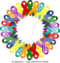 This is my symbol for the awareness ribbon color meanings for shawls I now make -- see my blog page for more info about the shawls and how to contact me.