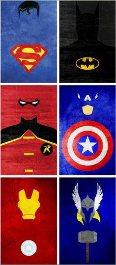 Superheroes minimalistas...