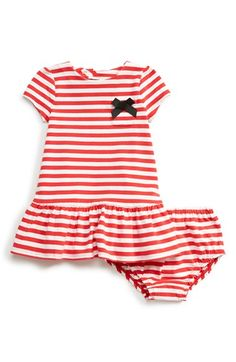 kate spade new york kids 'lena' stripe drop waist dress & bloomers (Baby Girls) available at #Nordstrom