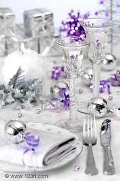 Silver and purple.....