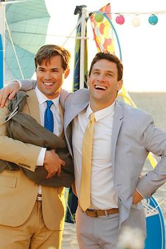 The New Normal, wedding day! Justin Bartha, Justin Scott, Andrew Rannells, Next To Normal, Under The Rainbow, Will And Grace, Tv Land, Family Album, Gay Men