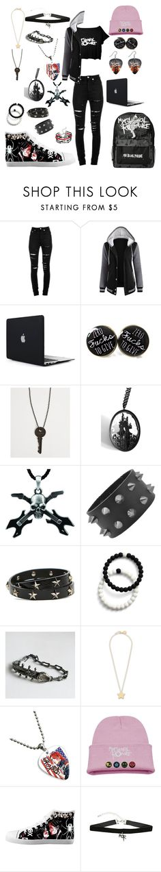 """MCR"" by kpop121402 ❤ liked on Polyvore featuring Yves Saint Laurent, The Giving Keys, Curiology, RED Valentino, Lokai, STELLA McCARTNEY and Hot Topic"