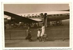 Olympic airways Greece  1950  Elliniko airport  Greece