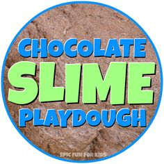 This chocolate slime play dough is wobbly and slimy, but holds it shape surprisingly well, making it perfect for building and then squishing!
