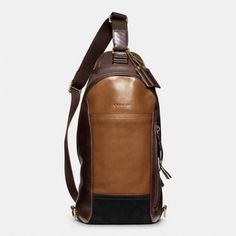 The Bleecker Convertible Sling Pack In Colorblock Leather from Coach