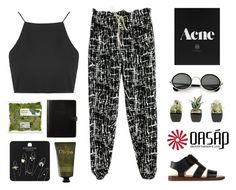 """""""Untitled #472"""" by aria-97 ❤ liked on Polyvore featuring Topshop, MM6 Maison Margiela, Olivina, vintage and oasap"""