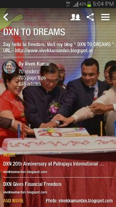"""My DXN Flipboard Online Magazine. ... """" DXN TO DREAMS """" You may follow and share. . URL - http://flip.it/pl2Km"""