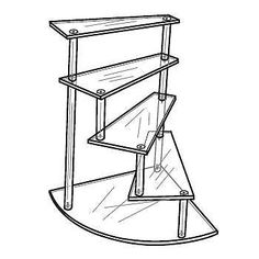 Acrylic Clear Spiral Stairway Figurine or Trinket Display Stand | eBay    Stairs for Barbie house possibly.