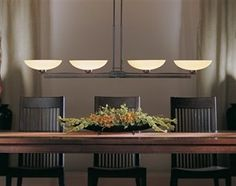 Hubbardton Forge 132200-1 4 Light Trestle Adjustable Island Light with Glass Bowl