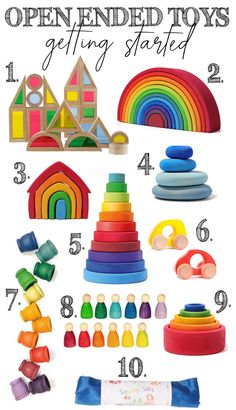 Getting started with open ended toys. Diy Montessori Toys, Montessori Toddler, Toddler Learning, Learning Toys For Toddlers, Montessori Bedroom, Preschool Toys, Learning Games, Grimm's Toys, Kids Toys