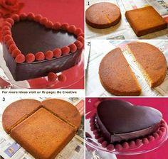 Jak zrobić słodkie ciasto w kształcie serca? Źródło: fanpage foodstyle.com
