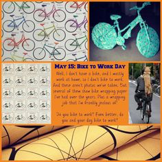 """May 15 is """"Bike to Work Day."""" Do you bike to work? With or without your dog?"""