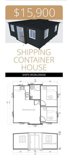 Container House Design, Tiny House Design, Cool Things To Build, Hut House, Casas Containers, Shipping Container House Plans, Container Architecture, House Inside, Tiny House Living