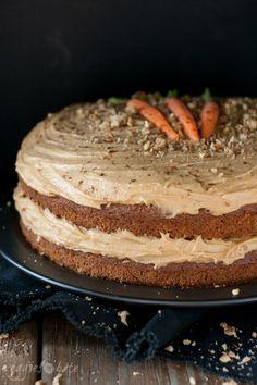 Peanut Butter Vegan Gluten Free Carrot Cake- Veggies Don't Bite