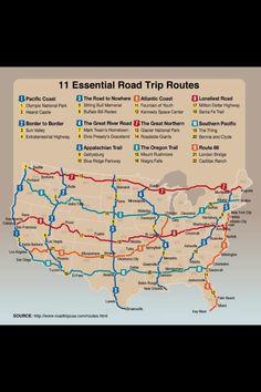 U.S. road trip map