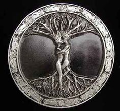 Celtic Tree of Life Lovers Belt Buckle, never seen the tree of life like this before, kind of cool