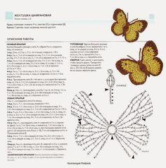 Horgolt pillangó minták ~ Horgolás minden mennyiségben!!!