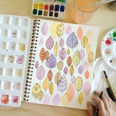 """""""21 days until the first day of Fall. But I'm not counting or anything. #penandpaintsketch"""""""