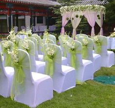 Free shipping 10 pcs 18.75*280cm Home/Wedding /Patry /Banquet Decor Organza Chair Bow Cover Sashes Decoration Gauze $6.14