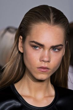 Line Brems - Beauty at Paco Rabbane Fall 2016-17, Paris Fashion Week.