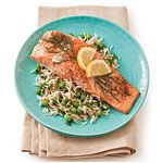 Roasted Salmon with Lemon and Dill Recipe   MyRecipes.com