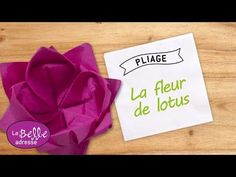 Pliage de serviette en fleur de Lotus : Décoration de table Vietnam - La Belle Adresse