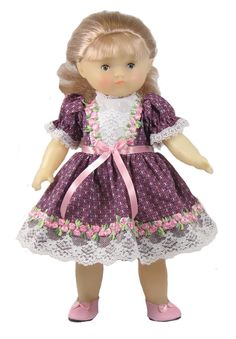 "12"" Rosebud Doll Dress fits Goodfellow and Carolle dolls"