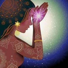 ♥ॐ Namaste ॐ♥ Meditation Art, Yoga Art, Namaste, Yoga Kunst, Psy Art, Spirited Art, Visionary Art, Divine Feminine, Indian Art