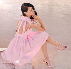 Pink Dress! ( Studded Dresses & Studded Leather Heels & Wedges )