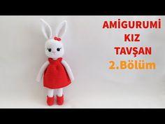 DIY Amigurumi Amigurumi Knitting Girl Rabbit Making / Dress, Shoes and Buckle Making (Rose Lady) Crochet Dolls, Crochet Baby, Free Crochet, Easter Bunny Crochet Pattern, Crochet Patterns, Knitting Videos, Amigurumi Doll, Free Pattern, Pikachu