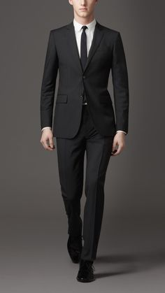 Modern fit two button pinstripe suit by Burberry Business Professional Attire, Business Attire For Men, Professional Dresses, Professional Look, Business Formal, Gentleman Style, Dapper Gentleman, Dapper Dan, Great Suits For Men