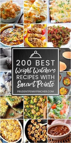 200 Best Weight Watchers Recipes with Smart Points #recipes #diet #healthyeating #breakfast #dinner #lunch