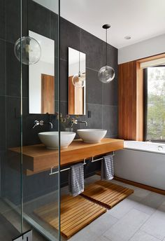Luxury Bathroom Master Baths Beautiful is completely important for your home. Whether you pick the Small Bathroom Decorating Ideas or Dream Master Bathroom Luxury, you will make the best Luxury Bathroom Master Baths Marble Counters for your own life. Modern Bathrooms Interior, Luxury Master Bathrooms, Contemporary Bathroom Designs, Master Baths, Contemporary Apartment, Rustic Contemporary, Small Bathrooms, Luxurious Bathrooms, Contemporary Interior