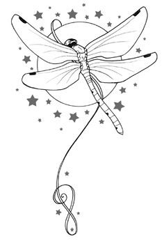 Dragonfly Free Tattoo Stencil - Free Tattoo Dragonfly Designs For Women - Customized Dragonfly Tattoos - Free Dragonfly Tattoos - Free Dragonfly Printable Tattoo Stencils - Free Dragonfly Printable Tattoo Designs Dragonfly Drawing, Dragonfly Tattoo Design, Dragonfly Art, Dragonfly Clipart, Wood Burning Patterns, Wood Burning Art, Galerie Saatchi En Ligne, Colouring Pages, Coloring Books
