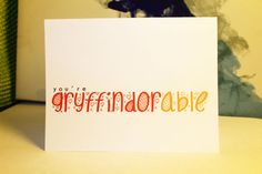 You're GRYFFINDORable - Harry Potter Valentine'sDay Card - $2.75