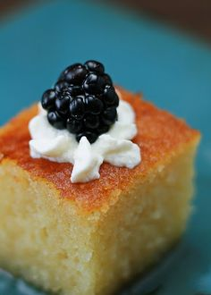 Turkish semolina cake (revani)