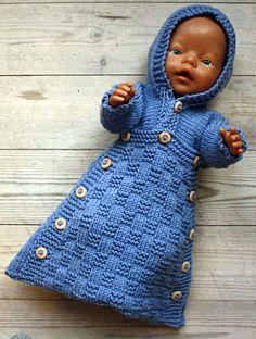 Foto af dukke i kørepose Knitting Dolls Clothes, Crochet Doll Clothes, Knitted Dolls, Girl Dolls, Baby Dolls, Baby Born Clothes, Baby Pop, Baby Barn, American Doll Clothes