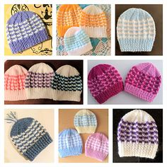 Ravelry: Duet Baby Hat pattern by marianna mel Baby Cardigan Knitting Pattern Free, Baby Hats Knitting, Baby Knitting Patterns, Knitted Hats, Knitting Ideas, Small Knitting Projects, Knitting For Charity, Baby Hat Patterns, Ravelry