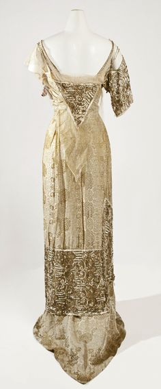 1910-1914, France - Evening dress by Jeanne Hallée - Silk, glass
