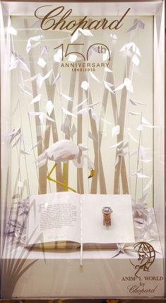 Flamingo vitrine | Chopard's 150th anniversaire
