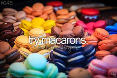 Tried macaroons ( from the best baker in France)! Bucket List For Girls, Summer Bucket Lists, 18th Birthday Party, Birthday Celebration, Birthday Ideas, Birthday Wishes, French Phrases, Justgirlythings, Before I Die