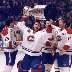 Patrick Roy with the Stanley Cup