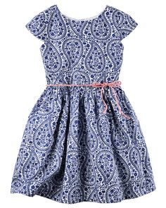 Toddler Girl Sateen Paisley Dress from Carters.com. Shop clothing & accessories from a trusted name in kids, toddlers, and baby clothes.