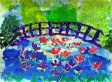 Monet's Water Garden with Japanese Bridge from Artsonia-1st