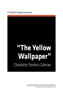 5 paragraph essay on the yellow wallpaper
